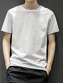 tanie Koszulki i tank topy męskie-T-shirt Męskie Podstawowy / Moda miejska Bawełna Sport Okrągły dekolt Solidne kolory / Krótki rękaw
