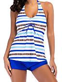 cheap Women's Swimwear & Bikinis-Women's Basic Strapless / Halter Neck Tankini - Color Block Backless Boy Leg