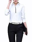 baratos Camisas Femininas-Mulheres Tamanhos Grandes Camisa Social - Trabalho Estampa Colorida Colarinho de Camisa Delgado