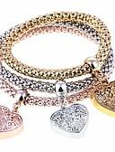 זול חליפות-3pcs בגדי ריקוד נשים צמידי צ'ארם צמידים צמידי Strand - לב אופנתי צמידים תכשיטים קשת עבור Party מתנה