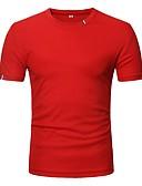 お買い得  メンズTシャツ&タンクトップ-男性用 Tシャツ ヴィンテージ / ストリートファッション ソリッド