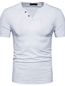 cheap Men's Shirts-Men's Street chic Polo - Solid Colored