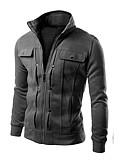 cheap Men's Hoodies & Sweatshirts-Men's Street chic Hoodie Jacket - Solid Colored