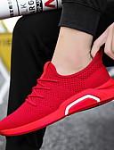 זול סוודרים וקרדיגנים לגברים-בגדי ריקוד גברים PU אביב / סתיו נוחות נעלי ספורט הליכה מונע החלקה שחור / אפור / אדום