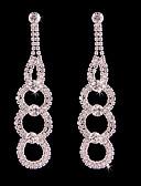 cheap Fashion Scarves-Women's Tassel / Long Stud Earrings / Hoop Earrings - Silver Plated Floral / Botanicals, Flower Bohemian, Fashion, Boho Silver For Wedding / Birthday
