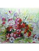 ieftine Rochii de Seară-stildecor® mână modernă a pictat o grămadă de flori de ulei pe panza pentru arta pereților pe panza împachetată