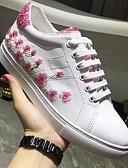ieftine Costum Damă Două Bucăți-Pentru femei Pantofi Piele Primăvară / Toamnă Confortabili Adidași Toc Drept Vârf rotund Alb