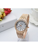 cheap Quartz Watches-Women's Bracelet Watch Japanese Imitation Diamond Stainless Steel Band Charm Silver / Gold / Rose Gold / One Year