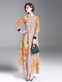 tanie Sukienki-Damskie Wyjściowe Moda miejska Szczupła Swing Sukienka - Geometric Shape, Nadruk Midi