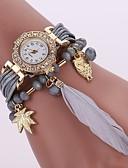 cheap Quartz Watches-Women's Bracelet Watch Chinese Casual Watch PU Band Casual / Fashion Black / White / Blue / One Year