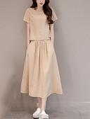 זול חליפות שני חלקים לנשים-חצאית אחיד - סט רזה כותנה בסיסי בגדי ריקוד נשים