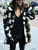 cheap Men's Jackets & Coats-Men's Weekend Long Faux Fur Fur Coat-Other,Artistic Style Shirt Collar