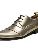 ieftine Curele Bărbați-Bărbați Pantofi rochie PU Primăvară / Toamnă Oxfords Auriu / Alb / Negru