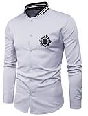 tanie Męskie koszule-męska koszula z okrągłym dekoltem
