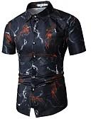 povoljno Muške košulje-Veći konfekcijski brojevi Majica Muškarci - Osnovni Dnevno Izlasci Cvjetni print Print