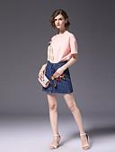tanie Topy damskie-Damskie Bawełna Aktywny Szczupła Koszula - Patchwork, Kolorowy blok Spódnica