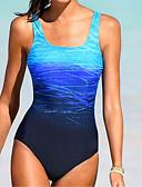 tanie Bikini i odzież kąpielowa 2017-Damskie Podstawowy Bandeau (opaska na biust) Bez ramiączek Jednoczęściowy Kolorowy blok Dół typu Cheeky