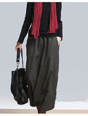 tanie Damskie spodnie-Damskie Podstawowy Puszysta Typu Chino Spodnie - Solidne kolory Nadruk Brązowy