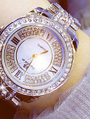 cheap Fashion Watches-Women's Dress Watch Chinese Chronograph / Luminous / Imitation Diamond Stainless Steel Band Luxury / Sparkle Silver / Gold / Two Years / Sony 377