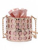 baratos Calcinhas-Mulheres Bolsas PU Bolsa de Ombro Botões Prata / Vermelho / Rosa