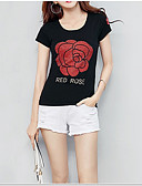 cheap Women's Tops-Women's Basic T-shirt - Floral Print