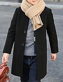 お買い得  男児 ジャケット&コート-男の子 ソリッド ジャケット&コート ブラック