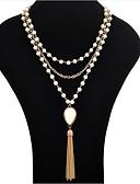 preiswerte Kleider in Übergröße-Damen Perle Quaste Lasso Statement Ketten / Perlenkette - Perle Quaste, Modisch Weiß, Schwarz Modische Halsketten Schmuck Für Party, Besondere Anlässe, Geburtstag