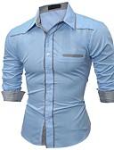 tanie Męskie koszule-Koszula Męskie Niejednolita całość Szczupła - Wielokolorowa / Długi rękaw