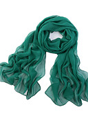 cheap Women's Scarves-Women's Polyester / Chiffon Rectangle - Solid Colored Mesh