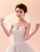 זול הינומות חתונה-שכבה אחת קלסי ונצחי / שיק ומודרני הינומות חתונה צעיפי קפלה עם ריקמה טול / קלאסי
