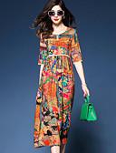 זול שמלות נשים-מותניים גבוהים מידי פרחוני - שמלה נדן רזה סגנון רחוב ליציאה בגדי ריקוד נשים
