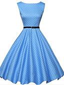 ieftine Regina Vintage-Pentru femei Șic Stradă Linie A Rochie Buline Sub Genunchi