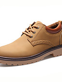 cheap Men's Polos-Men's Leather / Nappa Leather Spring / Fall Comfort Sneakers Walking Shoes Black / Brown / Blue
