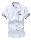 رخيصةأون خصم يصل إلى 90%-رجالي قطن قميص قياس كبير نحيل رياضي Active لون سادة أزرق البحرية XXXXL / كم قصير / الربيع / الصيف
