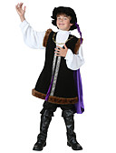 cheap Women's Lingerie-Shakespeare Outfits Costume Boys' Costume Black Vintage Cosplay Leather Long Sleeve