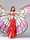 זול שמלות נשים-אביזרי ריקוד בחורה יפה אביזרי במה בגדי ריקוד נשים הצגה פוליאסטר עיצוב פרפר הדפסה דמוי גל סגנון פרפר אופנה