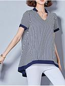 זול חולצה-פסים בסיסי חולצה - בגדי ריקוד נשים טלאים