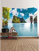 olcso Egzotikus férfi alsónemű-Kerti témák Landscape Fali dísz 100% Poliészter Kortárs Klasszikus Wall Art, Fali gobelinek Dekoráció