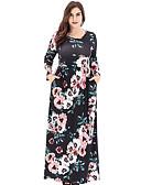 זול שמלות נשים-מקסי פרחוני - שמלה נדן רזה מידות גדולות חגים בגדי ריקוד נשים