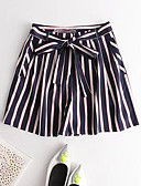 זול מכנסיים לנשים-בגדי ריקוד נשים פעיל שורטים מכנסיים פפיון / דפוס, פסים / חגים