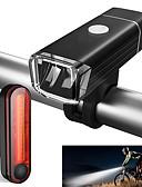baratos Calças Femininas-Luz Frontal para Bicicleta / Luz Traseira Para Bicicleta / Jogo de Luzes Recarregáveis para Bicicleta LED Luzes de Bicicleta Ciclismo Impermeável, Portátil Li-Ion 500 lm Ciclismo