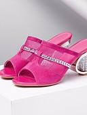 preiswerte Damen Kleider-Damen Schuhe Leder Frühling / Sommer Komfort Sandalen Heterotypische Ferse Grau / Fuchsia
