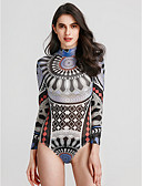 זול חולצה-גיאומטרי עומד בוהו טישרט - בגדי ריקוד נשים / אביב / סתיו