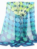 Недорогие Женские шарфы-Жен. Прямоугольная - Сетка Полиэстер, Горошек / Очаровательный