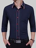 baratos Camisas Masculinas-Homens Camisa Social Básico Estampa Colorida