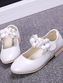 cheap Flower Girl Dresses-Girls' Shoes PU Spring / Fall Comfort / Flower Girl Shoes Flats for Gold / White / Pink