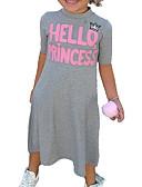 tanie Sukienki dla dziewczynek-Brzdąc Dla dziewczynek Kwiatowy Jendolity kolor Krótki rękaw Sukienka / Bawełna