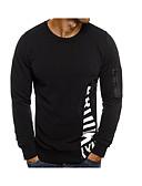 povoljno Muške majice i potkošulje-Majica s rukavima Muškarci Dnevno Pamuk / Lan Jednobojni Okrugli izrez Rese / Dugih rukava