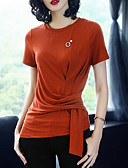 cheap Women's Tops-XSSL Women's Vintage Slim T-shirt - Solid Colored