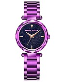 cheap Quartz Watches-Women's Bracelet Watch Japanese 30 m Chronograph Large Dial Stainless Steel Band Analog Luxury Sparkle Gold / Purple - Gold Purple Rose Gold Two Years Battery Life